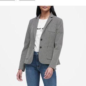Banana Republic hacking jacket blazer - 2 - gray